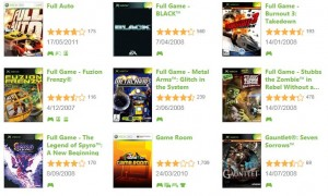 Games on Demand listing