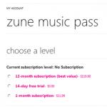Zune Pass Price List