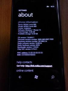 Nokia Lumia 800 8112